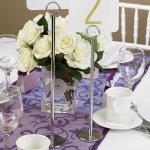 Wedding Reception Table Number Stand (2 Sizes)