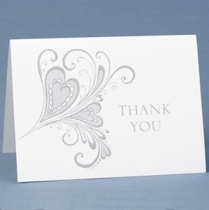Paisley Heart Thank You Cards (Set of 50) image