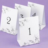 Tent Style Table Number Set