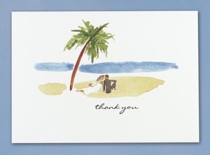 Paradise Found Beach Wedding Thank You Cards (50 Pack) image