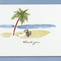 Paradise Found Beach Wedding Thank You Cards (50 Pack)
