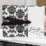 Gatefold Black and White Guest Book