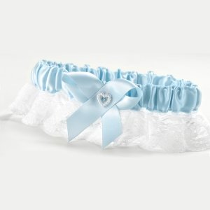 Blue Heart Full Figure Garter image