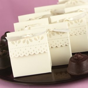 Ivory Scalloped Edge Favor Boxes (Set of 25) image