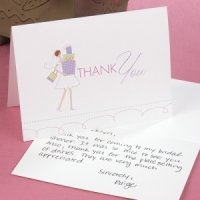 Bridal Shower Gifts Thank You Cards (25 Pack)