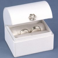 Treasure Chest Wedding Ring Boxes (Black or White)