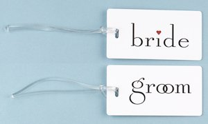 Bride and Groom Luggage Tags image