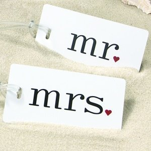 Mr and Mrs Luggage Tags image