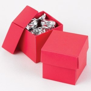 Mix and Match Two Piece Fuchsia Favor Boxes (Set of 25) image