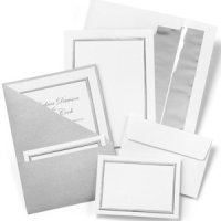Silver Shimmer Printable Wedding Invitation Kit (Set of 25)