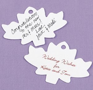 Personalized Leaf Shaped Wish Cards image