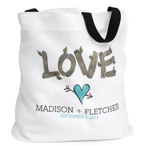 Rustic Love Personalized Tote Bag image