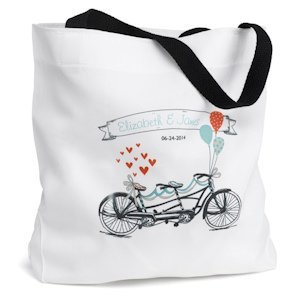 Tandem Bike Personalized Tote Bag image