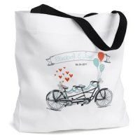 Tandem Bike Personalized Tote Bag