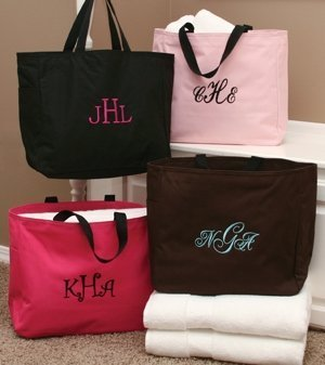 Personalized Tote Bags for Bridesmaids (8 Colors) image