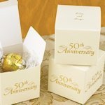 Personalized 50th Anniversary Favor Boxes (Set of 25)