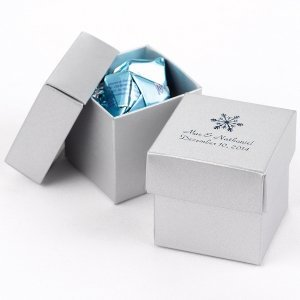 Mix and Match Personalized Silver Favor Boxes (Set of 25) image