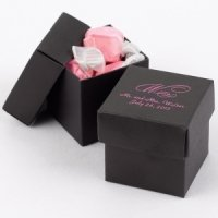 Mix and Match Personalized Black Favor Boxes (Set of 25)