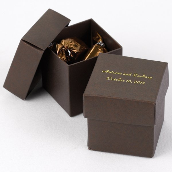 Michaels Brown Favor Boxes : Mix and match personalized mocha brown favor box set of
