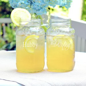 Hubby and Wifey Mason Jar Set image
