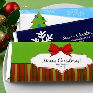 Personalized Holiday Chocolate Bars (24 Designs) image