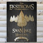 Black Woodgrain Cabin Canvas Prints (9 Designs)