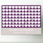 Heartfelt Wishes Wedding Guest Book Canvas
