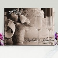 Personalized I Do Wedding Canvas Print