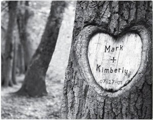 Tree of Love Personalized Canvas Print image
