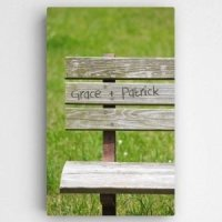 Personalized Romantic Park Bench Canvas