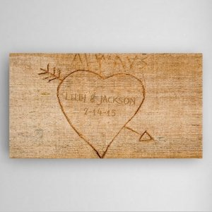 Personalized Cupid's Arrow Canvas image