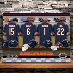 Personalized NFL Locker Room Canvas Print image