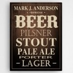 Personalized Beer Canvas Print