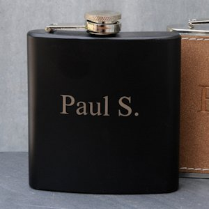 Personalized Black Matte Flask image