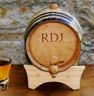 Oak Personalized Mini Whiskey Barrel image