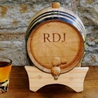 Oak Personalized Mini Whiskey Barrel