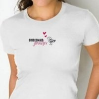 Personalized Chicks Bridesmaid Fitted T-Shirts
