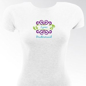 Personalized Curlz Bridesmaid & Bride T-Shirts image