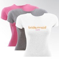 Orange Crush Bride & Bridesmaid Personalized T-Shirt