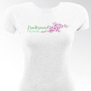 Personalized Preppy Breeze Bridesmaid & Bride T-Shirts image