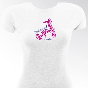 Personalized Tattooed Bridesmaid & Bride Shirts image