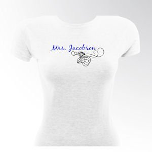 Personalized Bride Violet Dance T-shirt image
