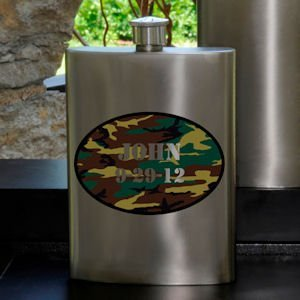 Camo Guys Party Flask image