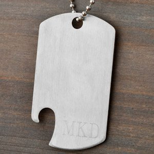Engraved Dog Tag Bottle Opener Necklace image