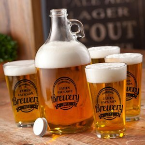 Personalized Brewery Growler Set image