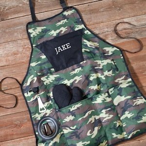 Personalized Camouflage Grillmaster Apron image