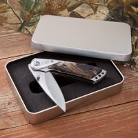 Engraved Camouflage Lockback Pocket Knife