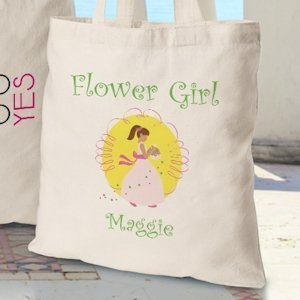 Personalized Flower Girl Tote Bags (3 Colors) image
