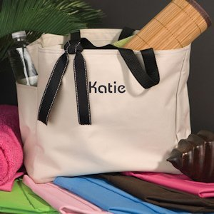 Addie Personalized Tote (6 Colors) image