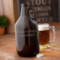 Personalized Amber Brewing Growler